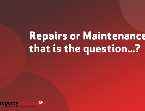 Repairs or Maintenance, that is the question…?