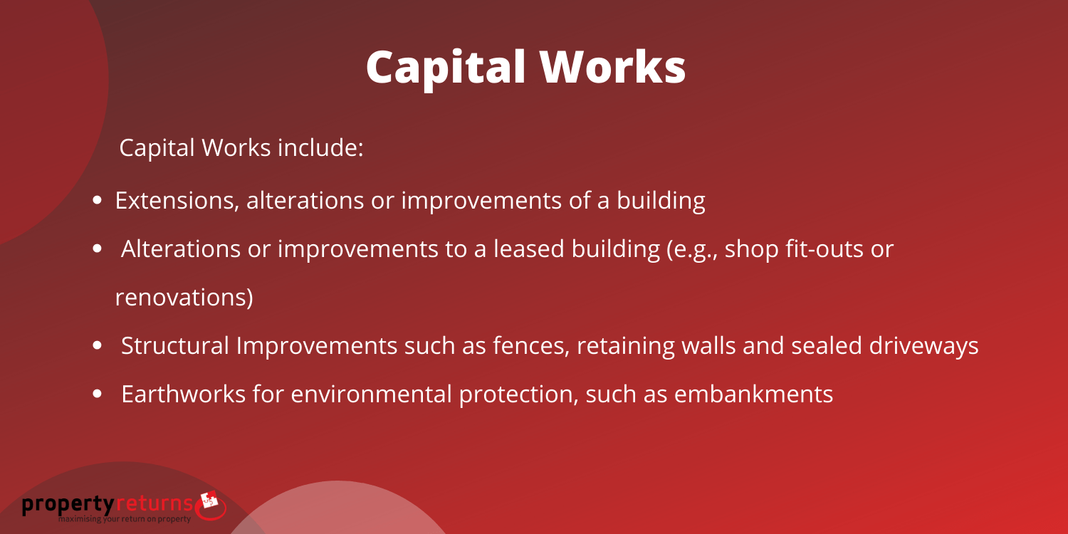 Capital works infographic