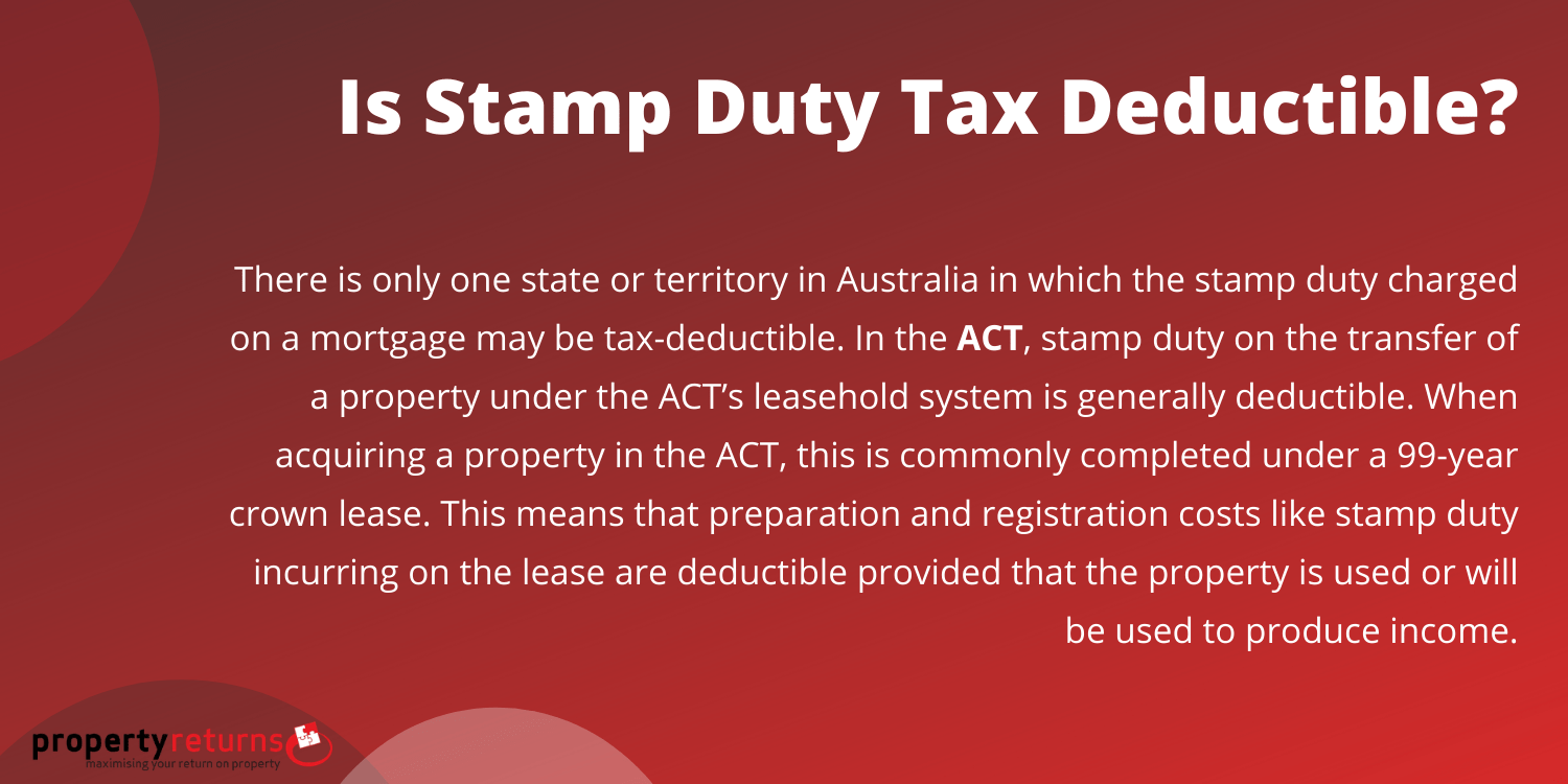 is stamp duty deductible infographic