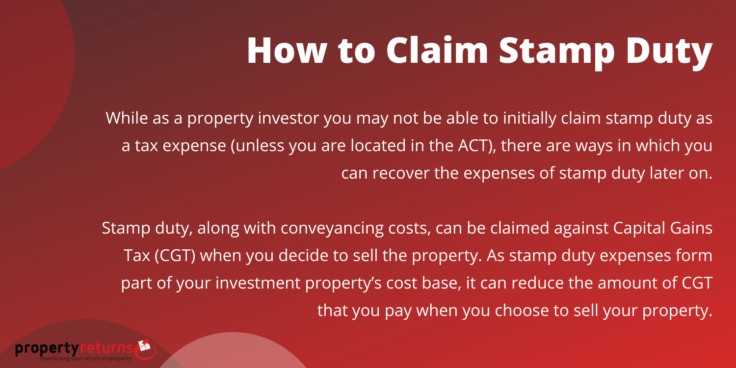 how to claim stamp duty infographic