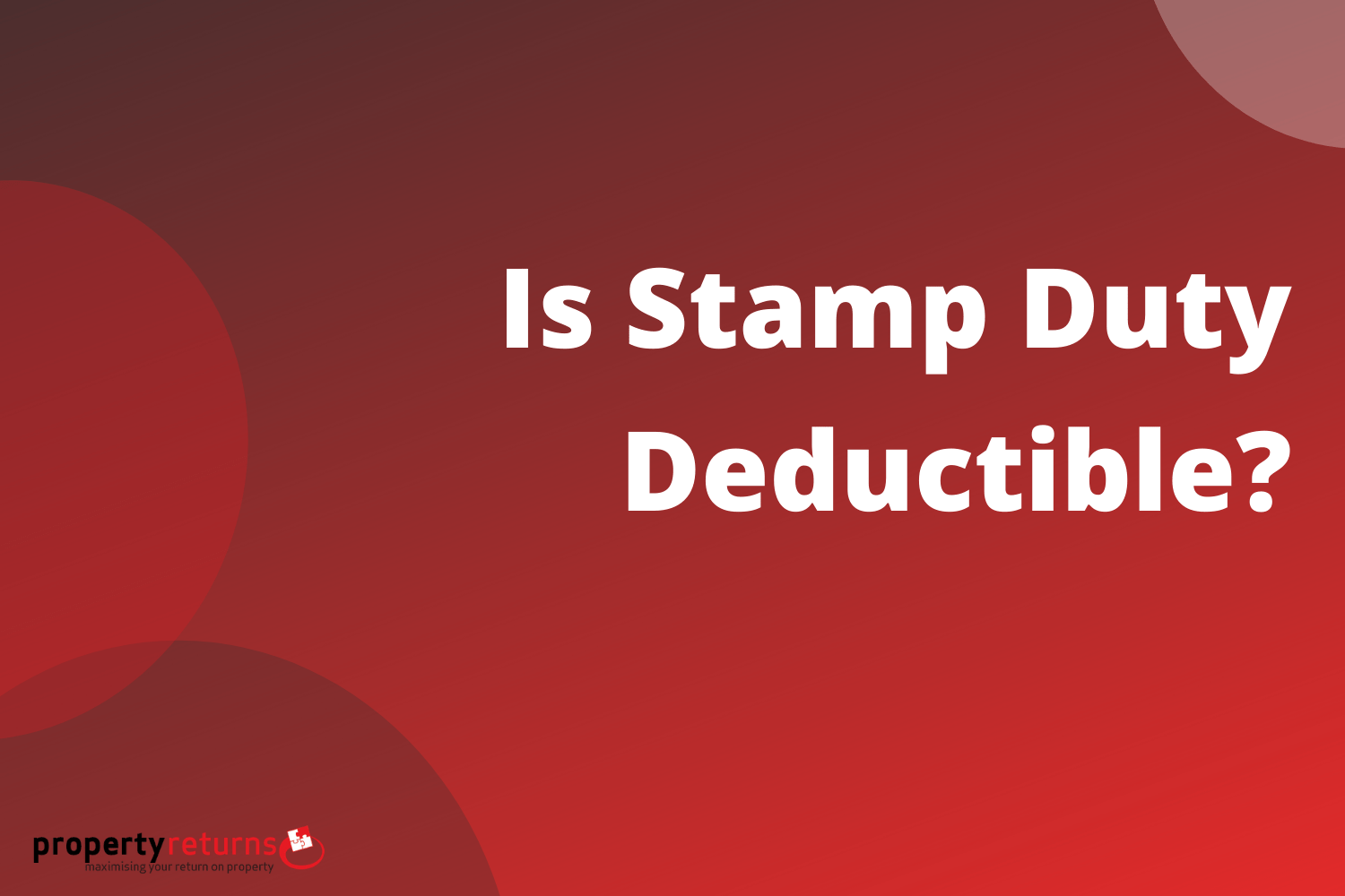 is stamp duty deductible cover image